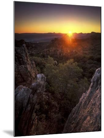 Sunset over Cederberg Wilderness Area, South Africa-Keith Ladzinski-Mounted Photographic Print