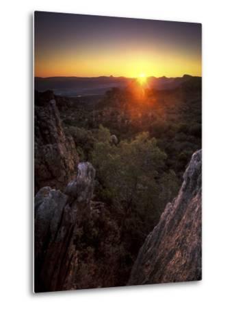 Sunset over Cederberg Wilderness Area, South Africa-Keith Ladzinski-Metal Print