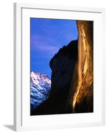Morning Twilight at the World Heritage Site of the Lauterbrunnen Valley, in Switzerland-Babak Tafreshi-Framed Photographic Print