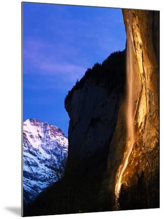 Morning Twilight at the World Heritage Site of the Lauterbrunnen Valley, in Switzerland-Babak Tafreshi-Mounted Photographic Print