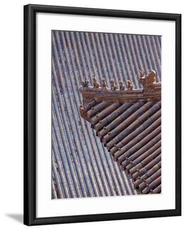 Figures on the Roof of the Summer Palace-Design Pics Inc-Framed Photographic Print