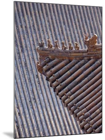 Figures on the Roof of the Summer Palace-Design Pics Inc-Mounted Photographic Print