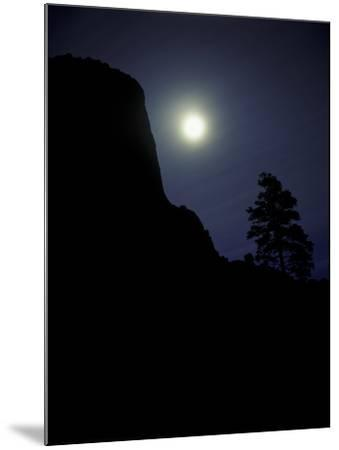 Moonrise in Sky over Devil's Tower, Devil's Tower National Monument, Wyoming-Keith Ladzinski-Mounted Photographic Print