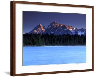 Jackson Lake and Tetons at Sunrise, Grand Teton National Park, Wyoming-Keith Ladzinski-Framed Photographic Print