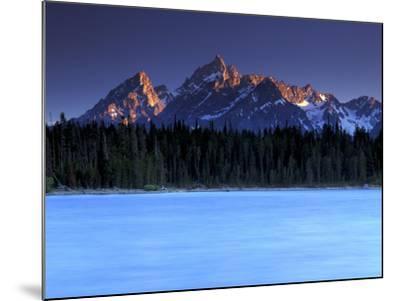 Jackson Lake and Tetons at Sunrise, Grand Teton National Park, Wyoming-Keith Ladzinski-Mounted Photographic Print