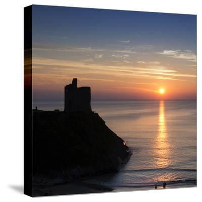 Sunset at Ballybunnion Castle, County Kerry, Ireland-Chris Hill-Stretched Canvas Print
