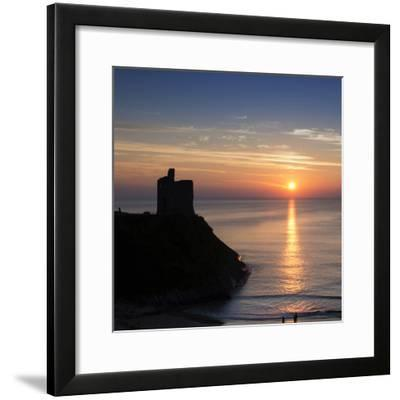 Sunset at Ballybunnion Castle, County Kerry, Ireland-Chris Hill-Framed Photographic Print