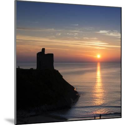 Sunset at Ballybunnion Castle, County Kerry, Ireland-Chris Hill-Mounted Photographic Print