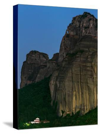 The World Heritage Site of Meteora at Early Dusk-Babak Tafreshi-Stretched Canvas Print