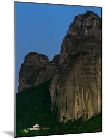The World Heritage Site of Meteora at Early Dusk-Babak Tafreshi-Mounted Photographic Print