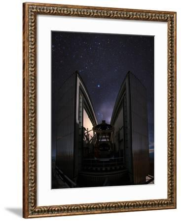 The 3.58-Metre New Technology Telescope, Ntt, Appears at Night in Action-Babak Tafreshi-Framed Photographic Print