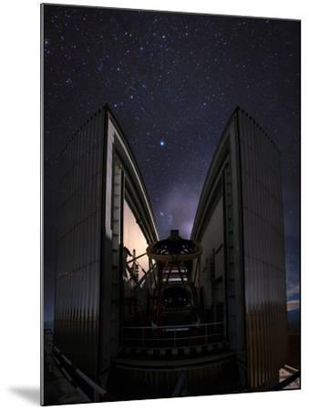 The 3.58-Metre New Technology Telescope, Ntt, Appears at Night in Action-Babak Tafreshi-Mounted Photographic Print