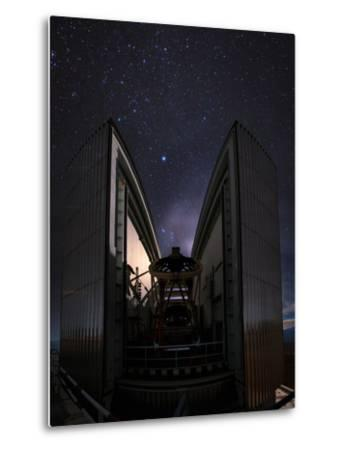 The 3.58-Metre New Technology Telescope, Ntt, Appears at Night in Action-Babak Tafreshi-Metal Print