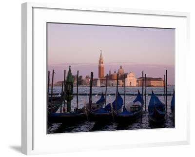 Gondolas on Canal, Church of St. Giorgio Maggiore in Background; Grand Canal, Venice, Italy-Design Pics Inc-Framed Photographic Print