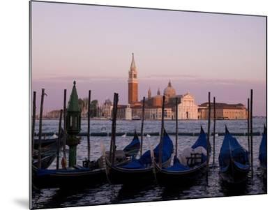 Gondolas on Canal, Church of St. Giorgio Maggiore in Background; Grand Canal, Venice, Italy-Design Pics Inc-Mounted Photographic Print