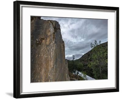 Prehistoric Petroglyph of a Bull in Coa Valley, One of the World's Oldest Rock Art Sites-Babak Tafreshi-Framed Photographic Print
