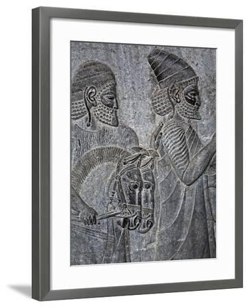 Bas-Reliefs on the Great Staircase of Apadana Palace, Persepolis-Babak Tafreshi-Framed Photographic Print