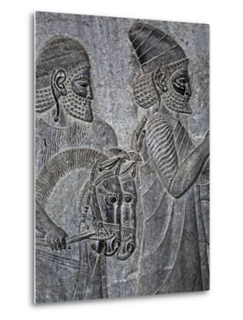 Bas-Reliefs on the Great Staircase of Apadana Palace, Persepolis-Babak Tafreshi-Metal Print