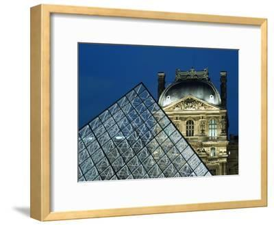 Detail of the Glass Pyramid Outside the Louvre Museum at Dusk-Design Pics Inc-Framed Photographic Print