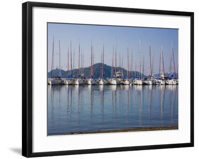Yachts Docked in the Harbor; Gocek, Mugla Province, Turkey-Design Pics Inc-Framed Photographic Print