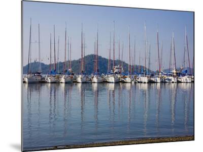 Yachts Docked in the Harbor; Gocek, Mugla Province, Turkey-Design Pics Inc-Mounted Photographic Print