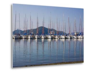 Yachts Docked in the Harbor; Gocek, Mugla Province, Turkey-Design Pics Inc-Metal Print