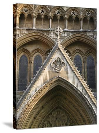Detail of Westminster Abbey-Design Pics Inc-Stretched Canvas Print
