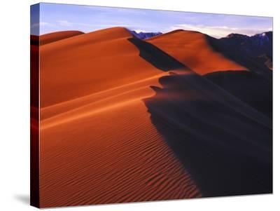 Dunes at Sunset, Great Sand Dunes National Park, Colorado-Keith Ladzinski-Stretched Canvas Print