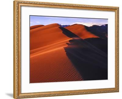Dunes at Sunset, Great Sand Dunes National Park, Colorado-Keith Ladzinski-Framed Photographic Print