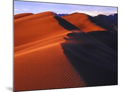 Dunes at Sunset, Great Sand Dunes National Park, Colorado-Keith Ladzinski-Mounted Photographic Print