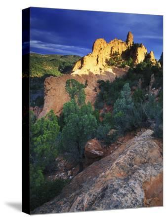 View of Keyhole Rock, Garden of the Gods, Colorado-Keith Ladzinski-Stretched Canvas Print