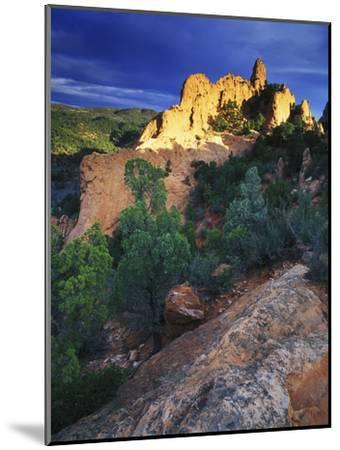 View of Keyhole Rock, Garden of the Gods, Colorado-Keith Ladzinski-Mounted Photographic Print