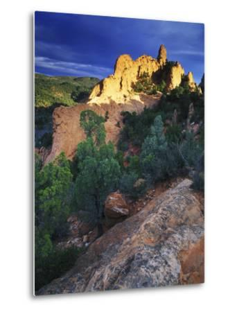 View of Keyhole Rock, Garden of the Gods, Colorado-Keith Ladzinski-Metal Print