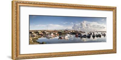 Boats Moored on the Water Along the Shoreline; Saltburn, Teesside, England-Design Pics Inc-Framed Photographic Print