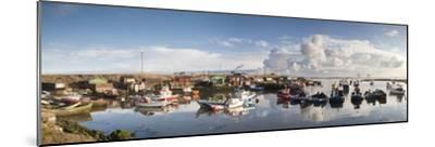 Boats Moored on the Water Along the Shoreline; Saltburn, Teesside, England-Design Pics Inc-Mounted Photographic Print