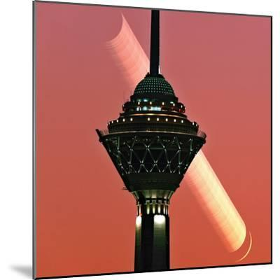 The New Moon Sets in the Early Evening Sky of Tehran-Babak Tafreshi-Mounted Photographic Print