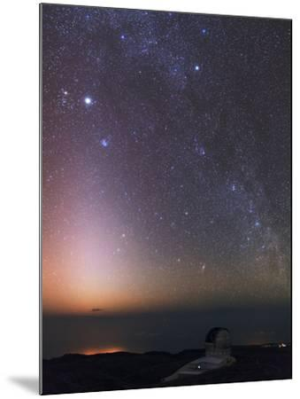 The Milky Way, Cassiopeia, Perseus, the Andromeda Galaxy, and Zodiacal Light over an Observatory-Babak Tafreshi-Mounted Photographic Print