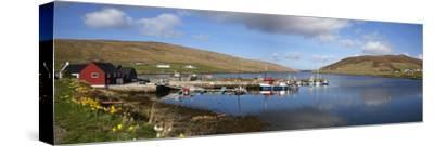 Boats in Marina; Shetland Scotland-Design Pics Inc-Stretched Canvas Print