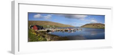 Boats in Marina; Shetland Scotland-Design Pics Inc-Framed Photographic Print