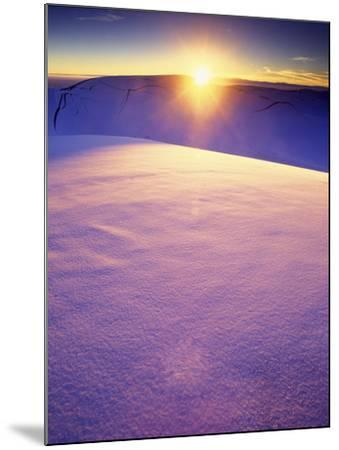 A Rarely Seen View of Snow-Covered Sand Dunes, at Sunset-Keith Ladzinski-Mounted Photographic Print