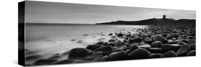 Embleton Bay with Dunstanburgh Castle in Distance, Northumberland,England,Uk-Design Pics Inc-Stretched Canvas Print