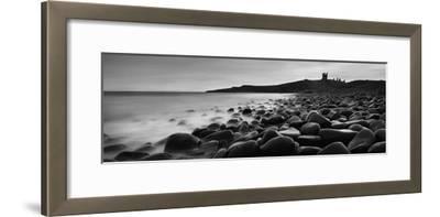 Embleton Bay with Dunstanburgh Castle in Distance, Northumberland,England,Uk-Design Pics Inc-Framed Photographic Print