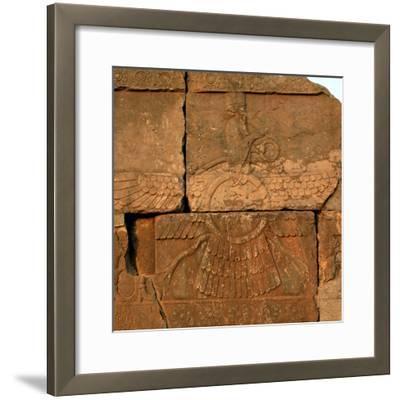 A Relief in Persepolis Depicting Faravahar, the Best-Known Symbol of Zoroastrians-Babak Tafreshi-Framed Photographic Print