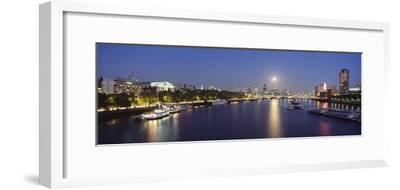Looking Down the Thames at Dusk-Design Pics Inc-Framed Photographic Print