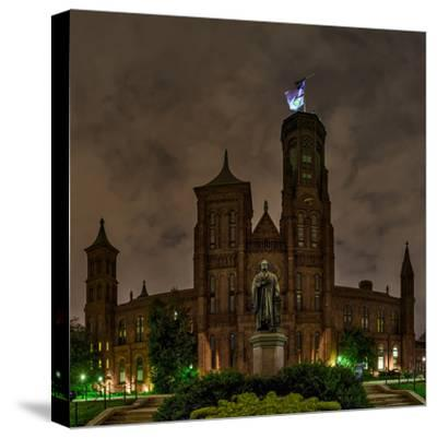 The Smithsonian Institution and Museum at Night-Babak Tafreshi-Stretched Canvas Print