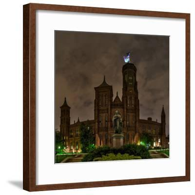 The Smithsonian Institution and Museum at Night-Babak Tafreshi-Framed Photographic Print