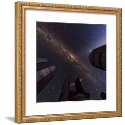 The Milky Way over the Cerro Paranal Observatory-Babak Tafreshi-Framed Photographic Print