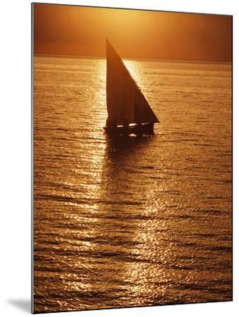 Dhow Heading Out to Sea at Dawn-Design Pics Inc-Mounted Photographic Print