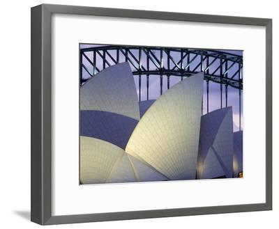 Looking over the Opera House to the Sydney Harbor Bridge, Close Up-Design Pics Inc-Framed Photographic Print