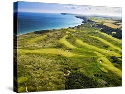 Aerial of Royal Portrush Golf Club on the North Coast of Northern Ireland-Chris Hill-Stretched Canvas Print